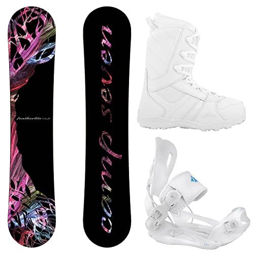 スノーボード ウィンタースポーツ キャンプセブン 2017年モデル2018年モデル多数 Camp Seven Package Featherlite Snowboard 144 cn-System Lux Bindings-Siren Lux Women's Snowboard Boスノーボード ウィンタースポーツ キャンプセブン 2017年モデル2018年モデル多数