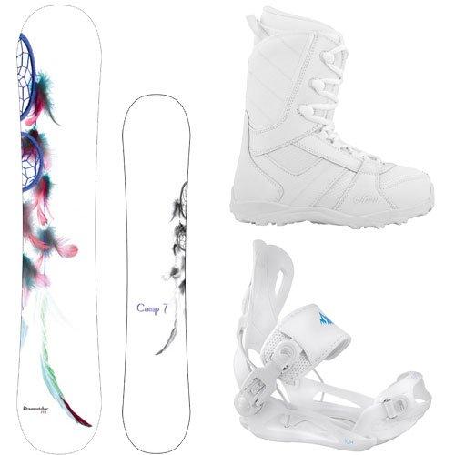 スノーボード ウィンタースポーツ キャンプセブン 2017年モデル2018年モデル多数 Camp Seven Package Dreamcatcher Snowboard 147 cm-System Lux Bindings-Siren Lux Women's Snowboard Bスノーボード ウィンタースポーツ キャンプセブン 2017年モデル2018年モデル多数