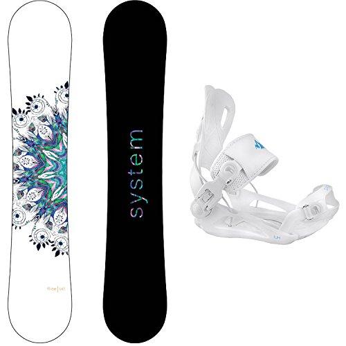 スノーボード ウィンタースポーツ システム 2017年モデル2018年モデル多数 System Package Flite Women's Snowboard-143 cm Lux Bindingsスノーボード ウィンタースポーツ システム 2017年モデル2018年モデル多数