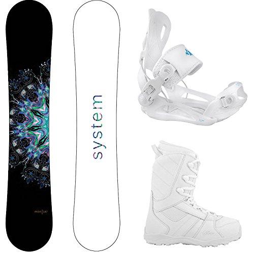 スノーボード ウィンタースポーツ システム 2017年モデル2018年モデル多数 System Package MTNW Women's Snowboard-144 cm Lux Bindings-Siren Lux Women's Snowboard Boots-9スノーボード ウィンタースポーツ システム 2017年モデル2018年モデル多数