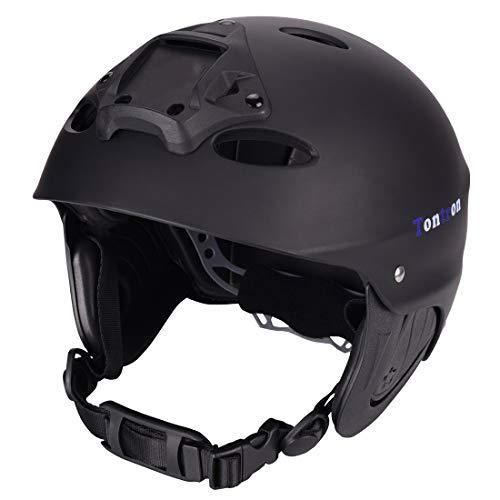 ウォーターヘルメット 安全 マリンスポーツ サーフィン ウェイクボード Tontron Water Helmet (Matte Black, Large)ウォーターヘルメット 安全 マリンスポーツ サーフィン ウェイクボード