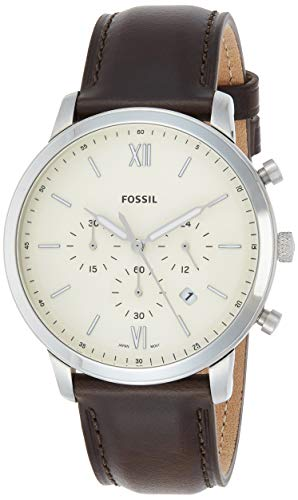 フォッシル 腕時計 メンズ FS5380 【送料無料】Fossil Men's Neutra Chrono Stainless Steel Quartz Watch with Leather Calfskin Strap, Brown, 22 (Model: FS5380)フォッシル 腕時計 メンズ FS5380