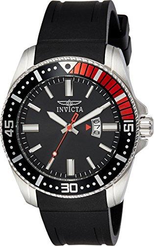 腕時計 インヴィクタ インビクタ プロダイバー メンズ 21445 【送料無料】Invicta Men's Pro Diver Stainless Steel Quartz Watch with Polyurethane Strap, Black, 24 (Model: 21445)腕時計 インヴィクタ インビクタ プロダイバー メンズ 21445