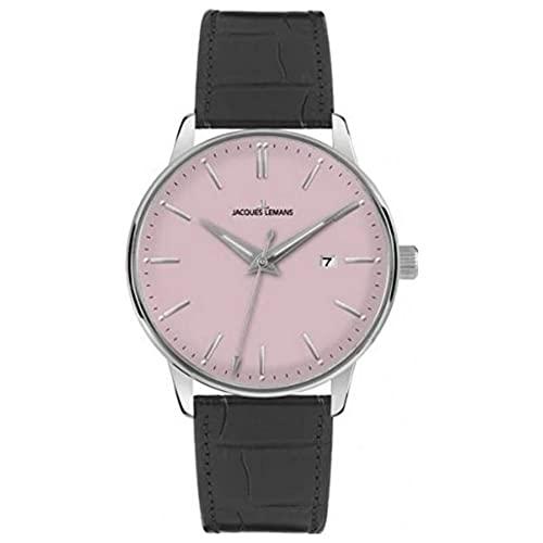 ジャックルマン オーストリア 腕時計 メンズ ケビンコスナー愛用 Classic Jacques Lemans Classic N-213F 42mm Stainless Steel Case Calfskin Acrylic Men's Watchジャックルマン オーストリア 腕時計 メンズ ケビンコスナー愛用 Classic