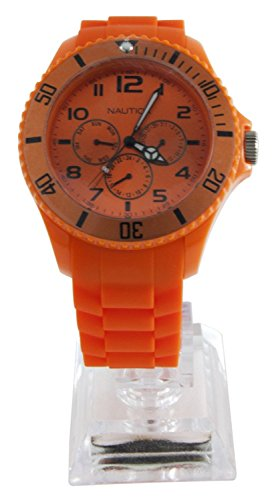 腕時計 ノーティカ メンズ N00545 【送料無料】Nautica Men's N00545 Sporty Orange Resin Watch腕時計 ノーティカ メンズ N00545