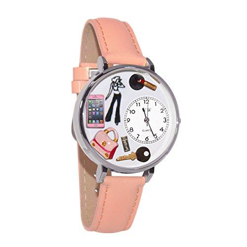 気まぐれな腕時計 かわいい プレゼント クリスマス ユニセックス 【送料無料】Teen Girl Pink Leather and Silvertone Watch #WG-U1610008気まぐれな腕時計 かわいい プレゼント クリスマス ユニセックス