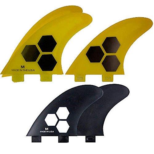 サーフィン フィン マリンスポーツ Channel Islands Tech 1 Five Fin Set - Yellow/Black - Select Size (FCS Compatilbe) (Large)サーフィン フィン マリンスポーツ