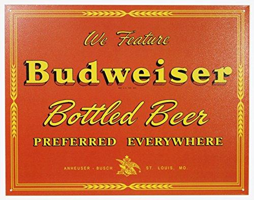 壁飾り インテリア タペストリー 壁掛けオブジェ 海外デザイン TSN1511 【送料無料】Budweiser Bottled Beer Preferred Everywhere Retro Vintage Tin Sign壁飾り インテリア タペストリー 壁掛けオブジェ 海外デザイン TSN1511