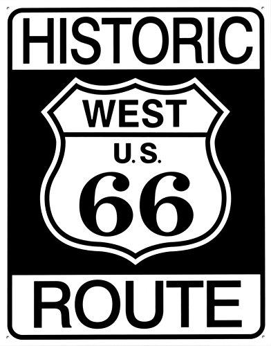 壁飾り インテリア タペストリー 壁掛けオブジェ 海外デザイン 【送料無料】Tin Sign Historic Route 66 , 13x16壁飾り インテリア タペストリー 壁掛けオブジェ 海外デザイン
