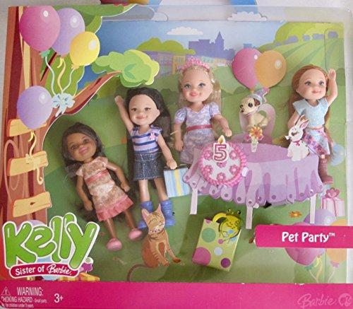 バービー バービー人形 チェルシー スキッパー ステイシー L6053 Barbie Kelly Pet Party Doll Set with Kayla, Kenzi, Kelly, & Mirandaバービー バービー人形 チェルシー スキッパー ステイシー L6053