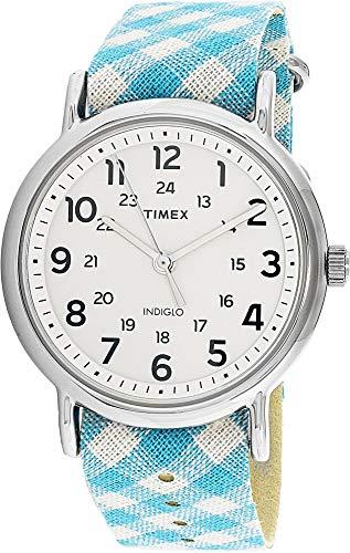 タイメックス 腕時計 レディース TW2R24400 【送料無料】Timex Women's Weekender TW2R24400 Blue Nylon Analog Quartz Fashion Watchタイメックス 腕時計 レディース TW2R24400