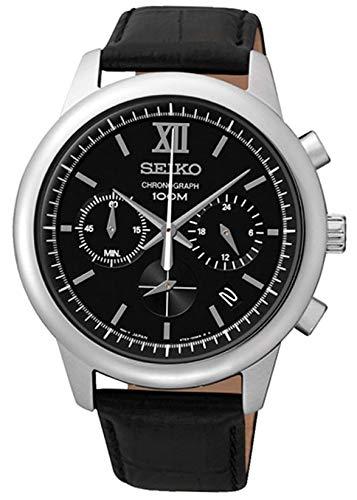 セイコー 腕時計 メンズ SSB139P2 【送料無料】SEIKO SSB139P2,Men's Chronograph,Stainless Steel Case,Black Leather Strap,100m WR,SSB139P2セイコー 腕時計 メンズ SSB139P2