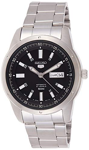 セイコー 腕時計 メンズ Seiko 5 Silver/Black Face Automatic Men's Analog Watch SNKN13J1セイコー 腕時計 メンズ