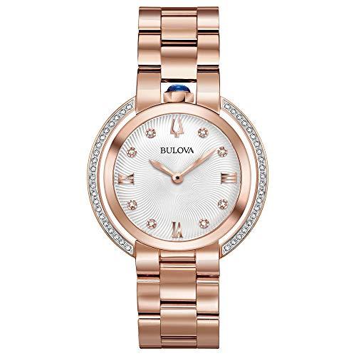 ブローバ 腕時計 レディース 【送料無料】Ladies' Bulova Rubaiyat Diamond Rose Gold-Tone Stainless Steel Watch 98R248ブローバ 腕時計 レディース