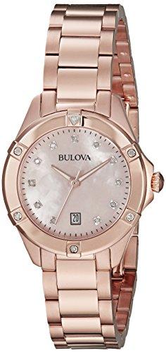 ブローバ 腕時計 レディース 97R101 【送料無料】Bulova 97R101 13mm Rose Gold Rose Gold Watch Braceletブローバ 腕時計 レディース 97R101