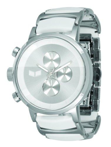 ベスタル ヴェスタル 腕時計 メンズ METCA03 【送料無料】Vestal Men's METCA03 Metronome Polished Silver with White Acetate Chronograph Watchベスタル ヴェスタル 腕時計 メンズ METCA03