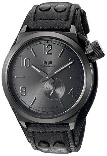 ベスタル ヴェスタル 腕時計 メンズ CTN3L11 Vestal Men's CTN3L11 Canteen Leather Analog Display Japanese Quartz Black Watchベスタル ヴェスタル 腕時計 メンズ CTN3L11