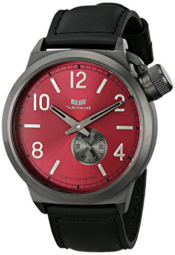 腕時計 ベスタル ヴェスタル メンズ CTN3L12 【送料無料】Vestal Men's CTN3L12 Canteen Leather Analog Display Japanese Quartz Black Watch腕時計 ベスタル ヴェスタル メンズ CTN3L12