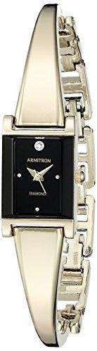 アーミトロン 腕時計 レディース 75/5322BKGP 【送料無料】Armitron Women's 75/5322BKGP Diamond-Accented Dial Gold-Tone Bangle Watchアーミトロン 腕時計 レディース 75/5322BKGP