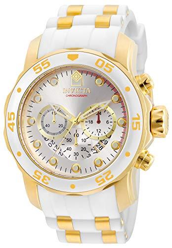 インヴィクタ インビクタ プロダイバー 腕時計 メンズ 20291 Invicta Men's Pro Diver Stainless Steel Quartz Watch with Silicone Strap, Gold, White, 26 (Model: 20291)インヴィクタ インビクタ プロダイバー 腕時計 メンズ 20291