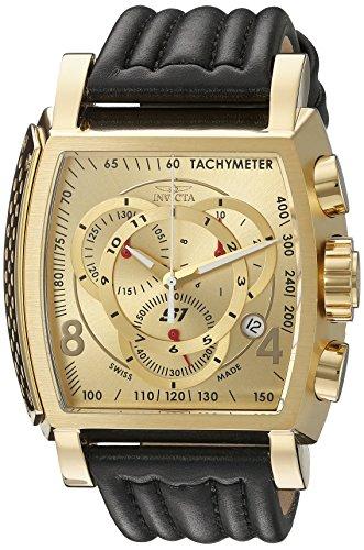 インヴィクタ インビクタ 腕時計 メンズ 20241 Invicta Men's 20241 S1 Rally 18k Ion-Plated Stainless Steel Watch with Black Leather Bandインヴィクタ インビクタ 腕時計 メンズ 20241