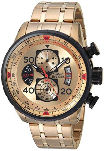 インヴィクタ インビクタ 腕時計 メンズ 17205 Invicta Men's 17205 AVIATOR 18k Gold Ion-Plated Watchインヴィクタ インビクタ 腕時計 メンズ 17205