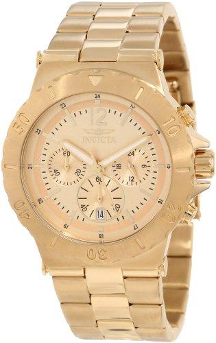 インヴィクタ インビクタ 腕時計 メンズ 1266 【送料無料】Invicta Men's 1266 Specialty Chronograph Gold Tone Dial 18k Gold Ion-Plated Watchインヴィクタ インビクタ 腕時計 メンズ 1266