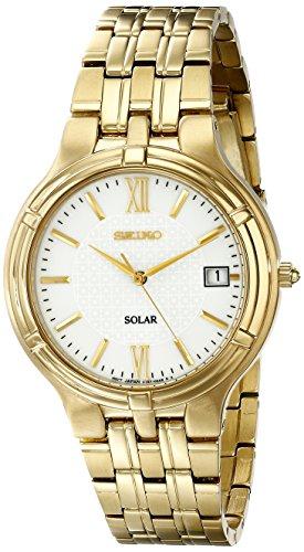 セイコー 腕時計 メンズ SNE030 【送料無料】Seiko Men's SNE030 Solar Gold Stainless Steel White Dial Watchセイコー 腕時計 メンズ SNE030