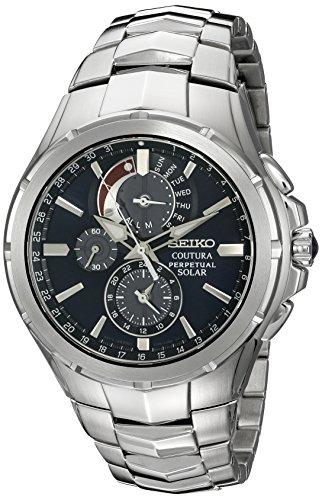 """セイコー 腕時計 メンズ SSC375 【送料無料】Seiko Men""""s SSC375 Coutura Solar Perpetual Chrono Analog Display Japanese Quartz Silver Watchセイコー 腕時計 メンズ SSC375"""