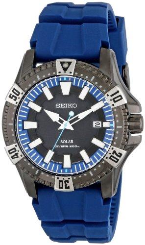 セイコー 腕時計 メンズ SNE283 【送料無料】Seiko Men's SNE283 Gunmetal-Tone Stainless Steel Watch with Blue Polyurethane Bandセイコー 腕時計 メンズ SNE283
