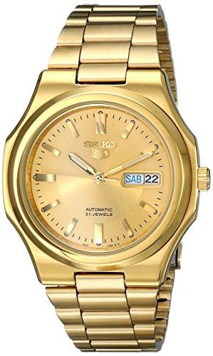 セイコー 腕時計 メンズ SNKK52 Seiko Men's SNKK52 Seiko 5 Automatic Gold-Tone Stainless Steel Bracelet Watchセイコー 腕時計 メンズ SNKK52