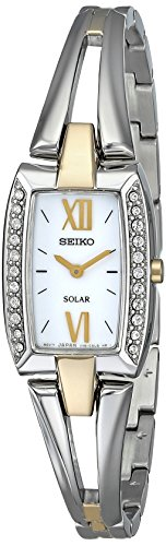 腕時計 セイコー レディース SUP084 【送料無料】Seiko Women's SUP084 Two Tone Stainless Steel Analog Watch with White Dial Watch腕時計 セイコー レディース SUP084