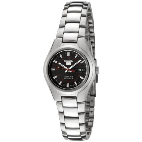 セイコー 腕時計 レディース SYMC27 【送料無料】Seiko Women's SYMC27 Seiko 5 Automatic Black Dial Stainless Steel Watchセイコー 腕時計 レディース SYMC27