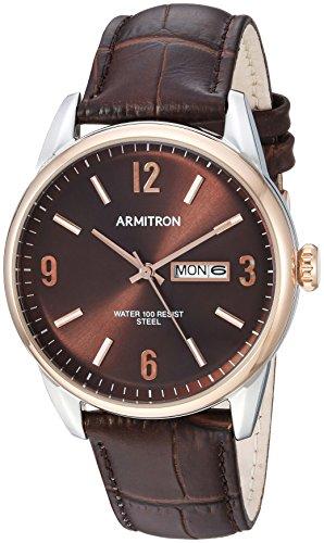 腕時計 アーミトロン メンズ 20/5048BNTRBN 【送料無料】Armitron Men's 20/5048BNTRBN Day/Date Function Brown Croco-Grain Leather Strap Watch腕時計 アーミトロン メンズ 20/5048BNTRBN