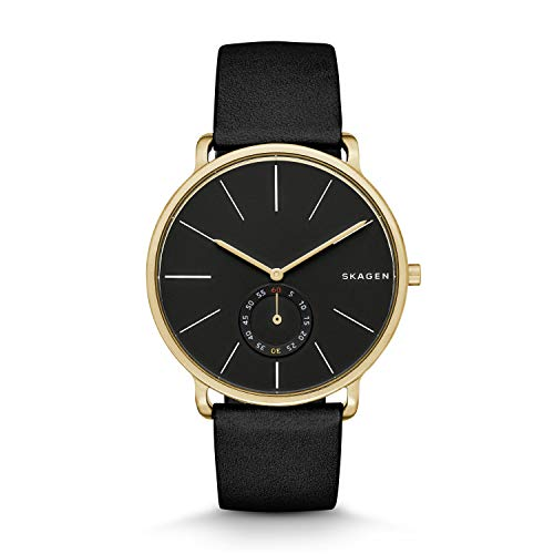 腕時計 スカーゲン メンズ SKW6217 【送料無料】Skagen Men's SKW6217 Hagen Black Leather Watch腕時計 スカーゲン メンズ SKW6217