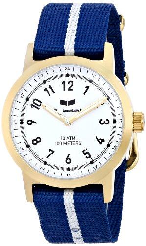 ベスタル ヴェスタル 腕時計 メンズ ABZ3C05 Vestal Men's ABZ3C05 Alpha Bravo Zulu Gold-Tone Stainless Steel Watch with Blue and White Nylon Bandベスタル ヴェスタル 腕時計 メンズ ABZ3C05