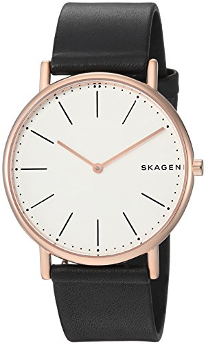 スカーゲン 腕時計 メンズ SKW6430 Skagen Men's Signatur Slim Titanium Analog-Quartz Watch with Leather Calfskin Strap, Black, 20 (Model: SKW6430)スカーゲン 腕時計 メンズ SKW6430