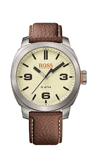 ヒューゴボス 高級腕時計 メンズ 1513411 HUGO BOSS Men's Cape Town Stainless Steel Quartz Watch with Leather Calfskin Strap, Brown, 22 (Model: 1513411)ヒューゴボス 高級腕時計 メンズ 1513411