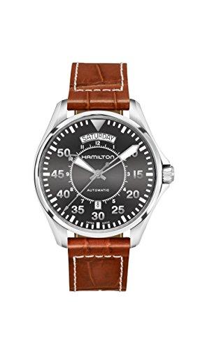 腕時計 ハミルトン メンズ H64615585 【送料無料】Hamilton Khaki Pilot Date Auto 42mm Black Dial Mens Watch H64615585腕時計 ハミルトン メンズ H64615585