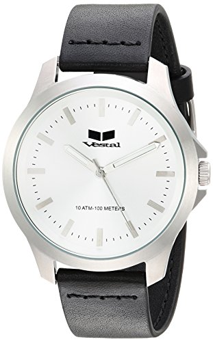 ベスタル ヴェスタル 腕時計 レディース HEI393L01.BK Vestal Stainless Steel Analog-Quartz Watch with Leather Strap, Black, 18 (Model: HEI393L01.BK)ベスタル ヴェスタル 腕時計 レディース HEI393L01.BK