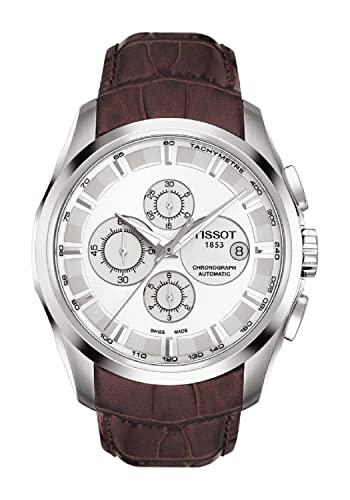 ティソ 腕時計 メンズ T0356271603100 【送料無料】Tissot Men's T0356271603100 Couturier White Chronograph Dial Watchティソ 腕時計 メンズ T0356271603100