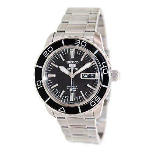 腕時計 セイコー メンズ SNZH55K1 【送料無料】SEIKO SNZH55K1,Men's Automatic Sport,Stainless steel Case & Bracelet,Black Dial,Rotating Bezel,100m WR,SNZH55腕時計 セイコー メンズ SNZH55K1