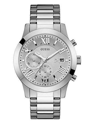 ゲス GUESS 腕時計 メンズ U0668G7 GUESS Stainless Steel Chronograph Bracelet Watch with Date. Color: Silver-Tone (Model: U0668G7)ゲス GUESS 腕時計 メンズ U0668G7
