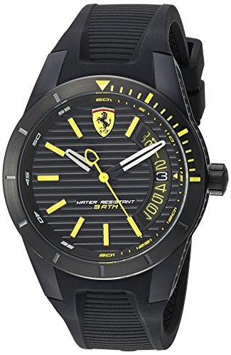 フェラーリ 腕時計 メンズ 830426 【送料無料】Ferrari Men's RedRevT Stainless Steel Quartz Watch with Rubber Strap, Black, 21 (Model: 830426)フェラーリ 腕時計 メンズ 830426