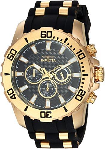 腕時計 インヴィクタ インビクタ プロダイバー メンズ 22557 【送料無料】Invicta Men's Pro Diver Stainless Steel Analog-Quartz Watch with Silicone Strap, Two Tone, 26 (Model: 22557)腕時計 インヴィクタ インビクタ プロダイバー メンズ 22557