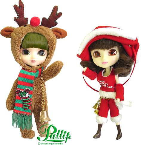 プーリップドール 人形 ドール 【送料無料】Little Pullip Carol & Rudolph Christmas Dollsプーリップドール 人形 ドール