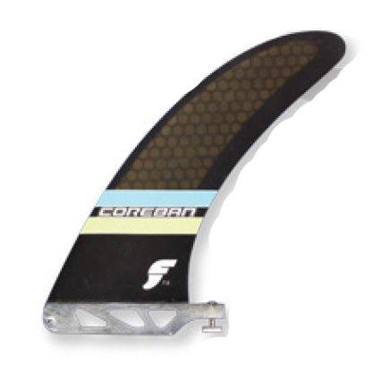 """サーフィン フィン マリンスポーツ Future Fins Longboard SUP Coreban Edition 2+1 fin set 7"""" center fin and sidebite fins (blue/green)サーフィン フィン マリンスポーツ"""