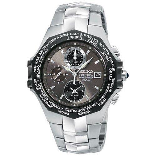 セイコー 腕時計 メンズ SPL001 Seiko Men's SPL001 Coutura World Timer Watchセイコー 腕時計 メンズ SPL001