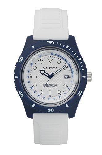 腕時計 ノーティカ メンズ NAPIBZ006 【送料無料】Nautica Men's Ibiza Quartz Sport Watch with Silicone Strap, White, 22 (Model: NAPIBZ006)腕時計 ノーティカ メンズ NAPIBZ006