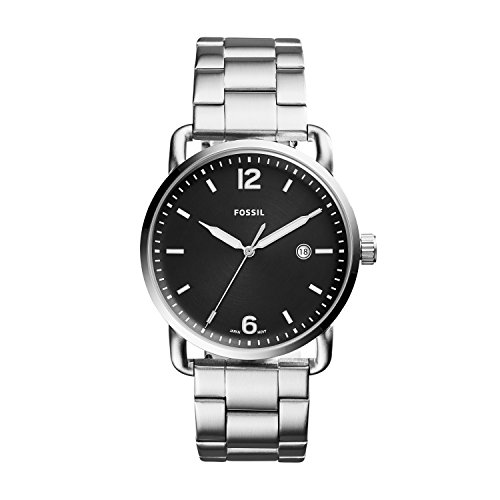 フォッシル 腕時計 メンズ FS5391 Fossil Men's 'The Commuter' Quartz Stainless Steel Casual Watch, Color:Black/silvertoned (Model: FS5391)フォッシル 腕時計 メンズ FS5391